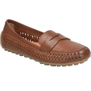NEW Born Malena Braid Leather Penny Loafer Drivers